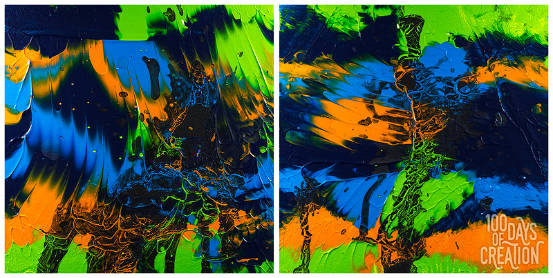 "Day 18 - Butterfly diptych ~ Acrylic on Aquabord 2x 6""x6"""