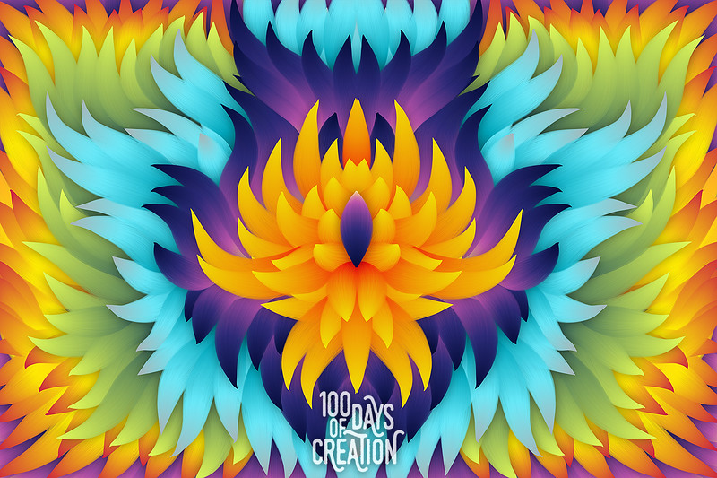 "Day 87 - Flame Flower ~ Digital painting, 15""x10"""