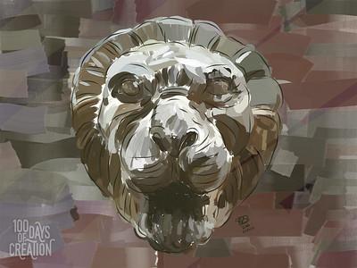 "Day 61 - Roar ~ Digital painting, 12""x9"""