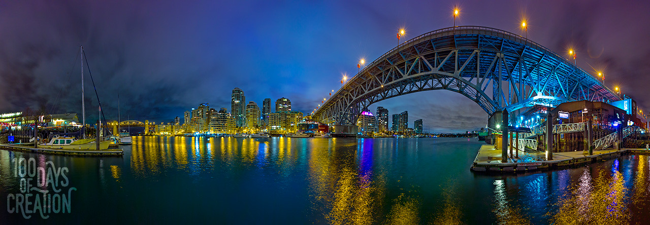 "Day 70 - Bridge ~ Panorama photograph, 44""x15"""