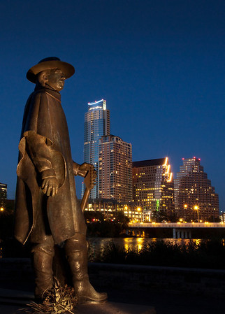 SRV Statue on Town Lake