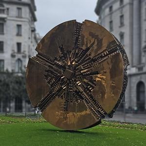 The Arnaldo Pomodoro's sun, Milano, Italy