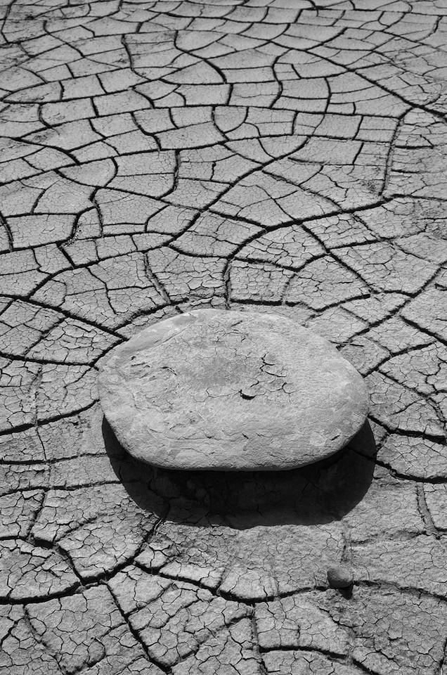 Stone on mud