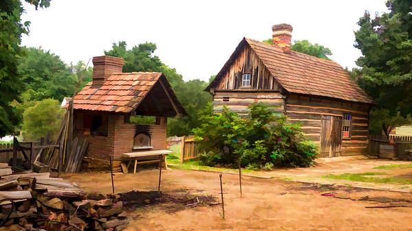 Colonial Log Cabin