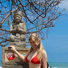 Indonesian beach: Kuta woman bikini
