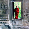 Monk, Angkor Wat, Cambodia