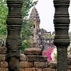 Angkor Preah Ko through pillars