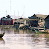 Tonle Sap boat and village