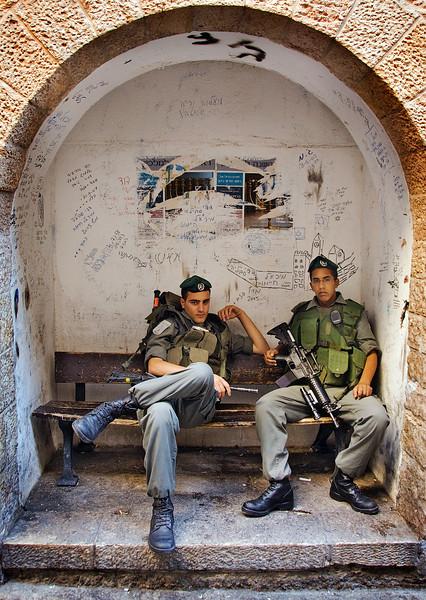 Jerusalem, Old City, Israeli soldiers