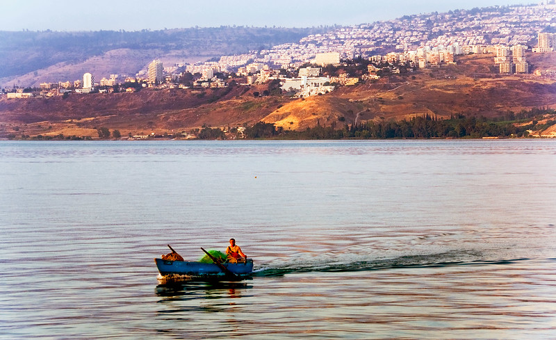 Fisherman, Sea of Galilee near Tiberius