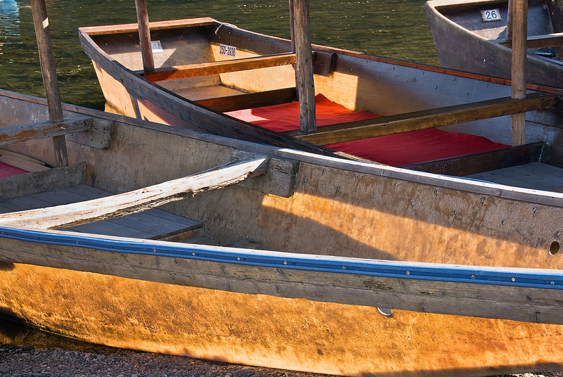 Kyoto, boats on Oi-gawa River