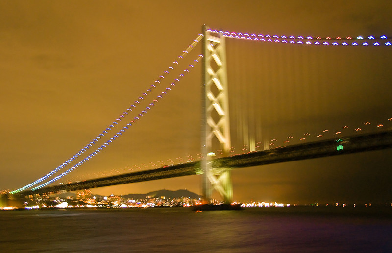 Longest single span bridge in world, near Kobe