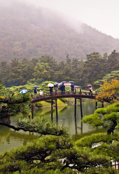 Takamatsu, rainy day, Ritsurin Park