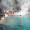 Beppu, cooking egg at Aquamarine Hell