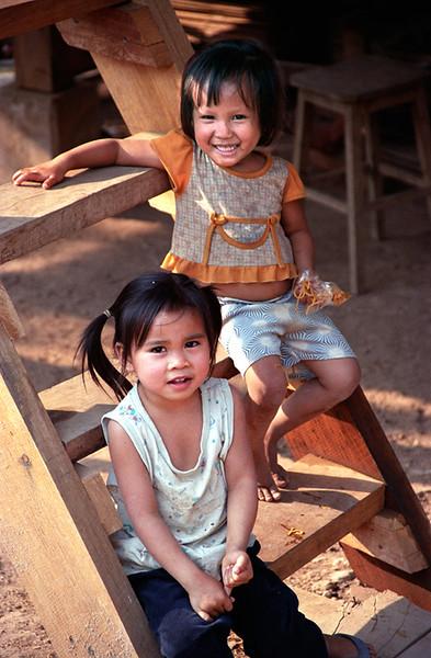 Luang Prabang kids on steps