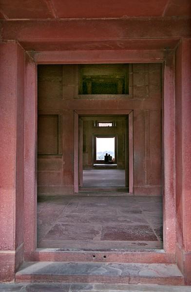 Fatehpur Sikri (near Agra) red sandstone building doorway