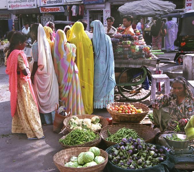 Udaipur, market scene