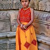 Khajuraho, young girl at temple
