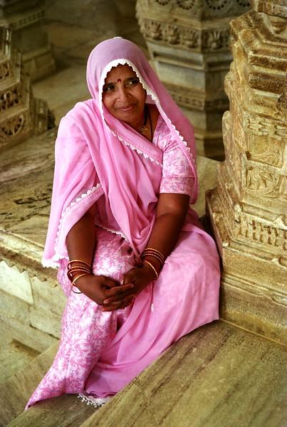 Woman at Ranakpur Jain Temple