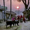 Sunset, village near Bodh Gaya