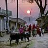 Sunset, village near Bodh Gaya