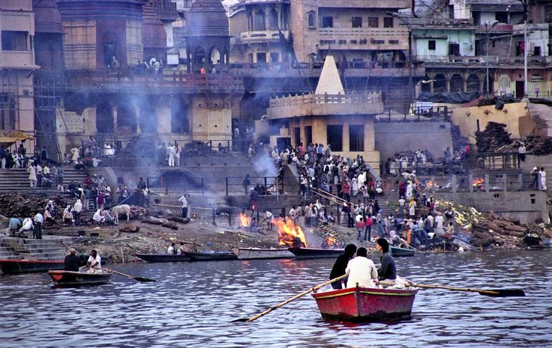 Varanasi, cremation ghats