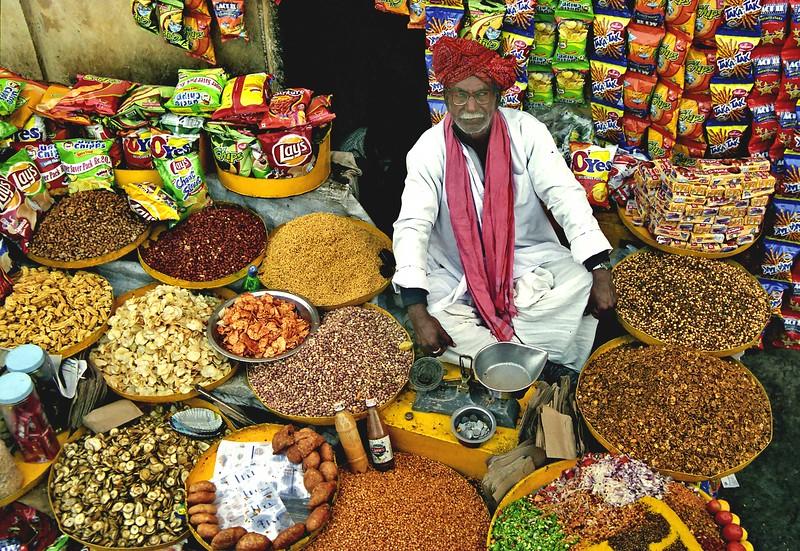 Jaipur, Rajasthan, spice vendor