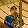 Saxaphone player on Huangpo Riverboat