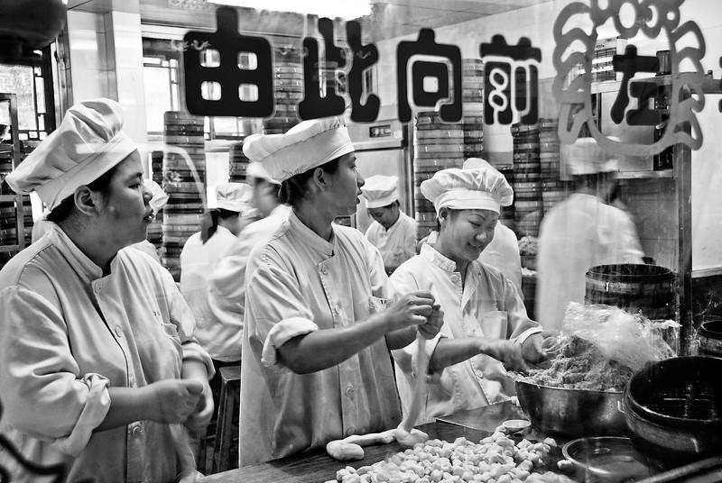 Making dumplings, Old City