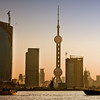 Pudong at sunset from Huangpo River