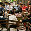 Card players and observers at Huo Shan Park