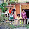 Kerala, backwaters, kids at home