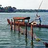 Boat scene, Kerala backwaters near Kayaloram