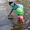 Mudumalai Wildlife Sanctuary, Korumba woman getting water
