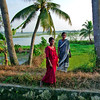 Kerala backwaters, women out for a stroll