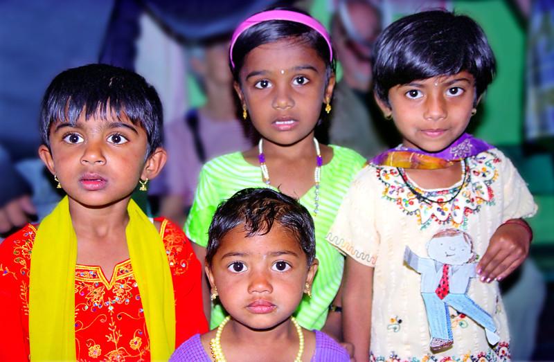 Children, Badaga tribal village