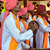 Mysore, entertainers at arts and crafts fair