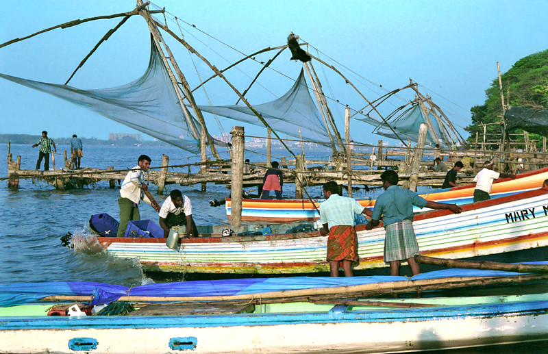 Cochin, fishermen