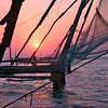 Cochin, Chinese fishing nets at sunset