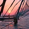 Cochin, Chinese fishing nets at sunset