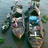 Chau Doc early morning boat scene