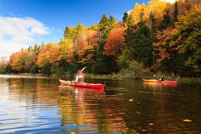 Kayaking in autumn colours
