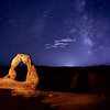 Delicate Arch at Night with the Milky Way Galaxy