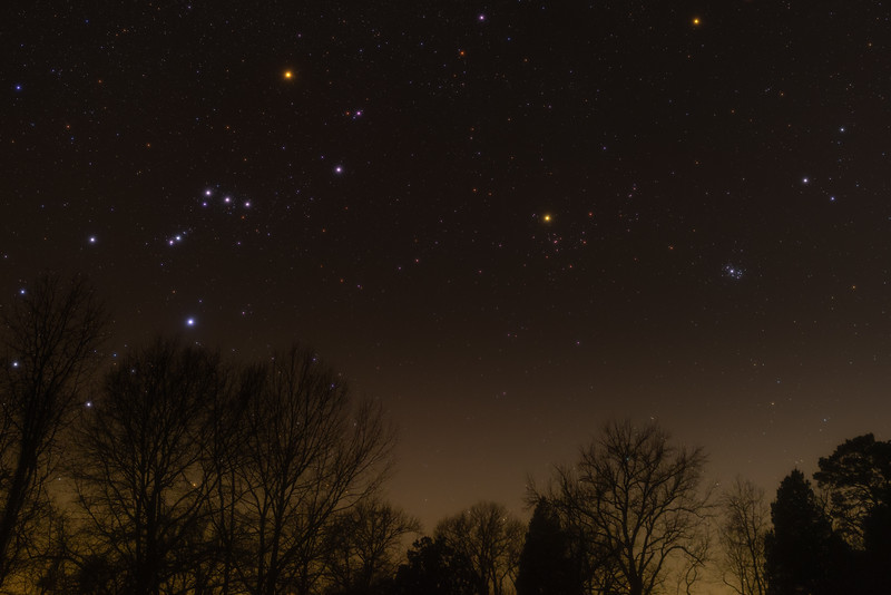 Orion Hyades and Plaiades 01092021
