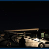 The ghost of JimRob and a motor home under the stars.