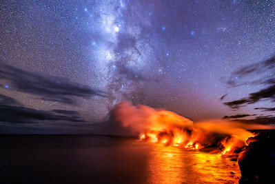 Milky Way and Molten Lava