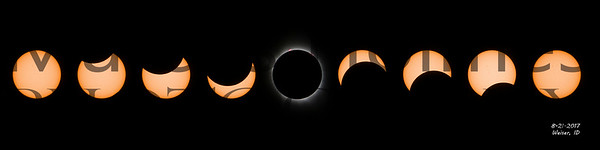 Great Solar Eclipse Mosaic