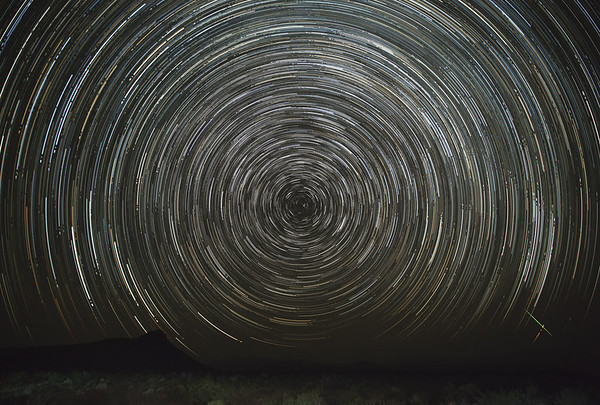 Star Trails and Meteor - Big Bend National Park, Texas