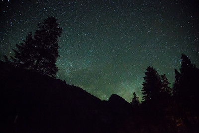 Yosemite Valley night sky