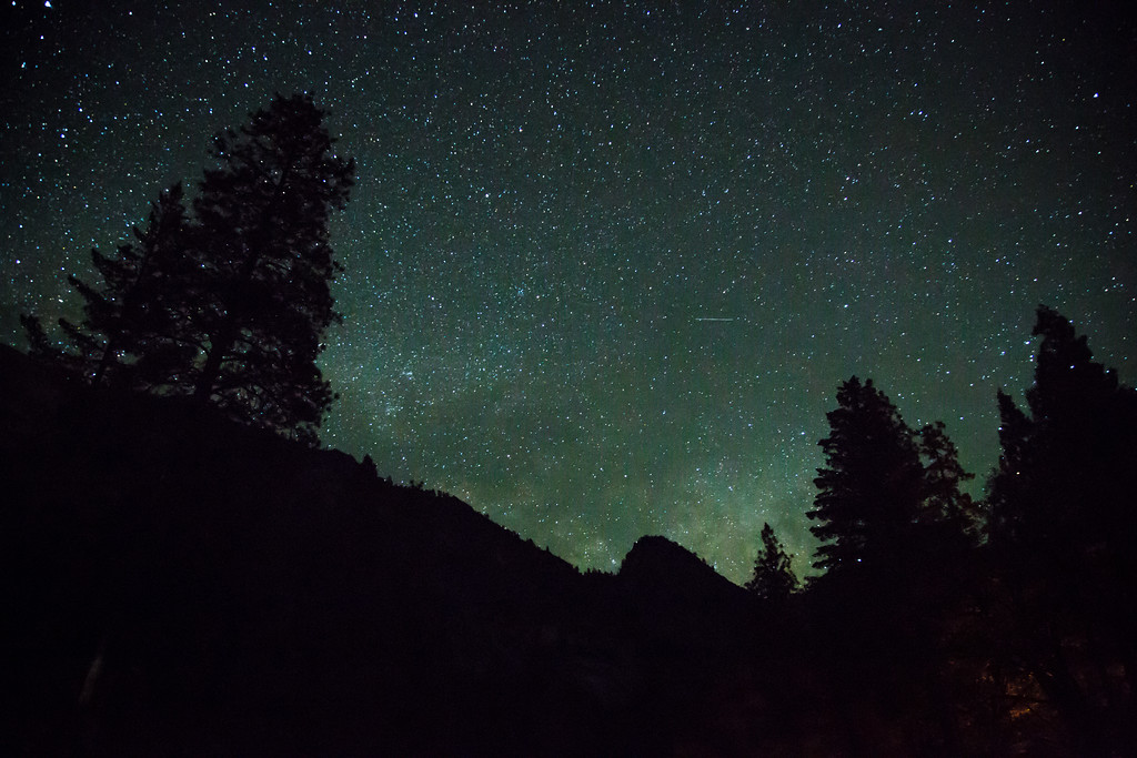 Yosemite Valley night sky